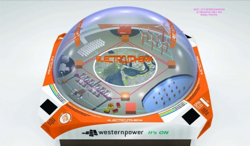 Interactive custom Western Power Electrosphere 3D Model design representation